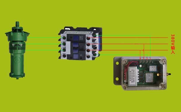 远程手机遥控器【单路】控制水泵电机时的接线方法